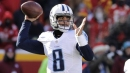 Titans QB Marcus Mariota practicing without a brace, feeling good