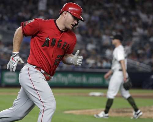 Trout gets 5 hits as Angels beat Yankees 11-4