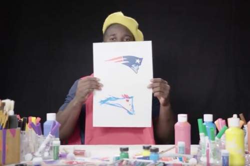 WATCH: Sony Michel, other rookies try to draw their NFL teams' logos