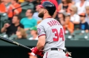 Nationals' slugger Bryce Harper crushes first-pitch fastball from Dylan Bundy for home run No. 17...