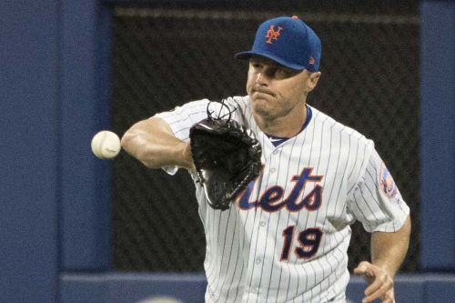 Jay Bruce leaves game early with back spasms