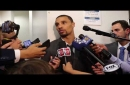George Hill after Game 2 about Warriors: 'We've got our hands full' (video)