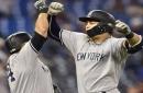 Judge, Stanton homer in 13th as Yankees beat Blue Jays 3-0