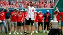 Ovechkin, Stanley Cup champ Capitals steal show at Nationals-Giants game