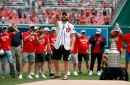 Ovechkin's ceremonial 1st pitch was anything but Cup-worthy