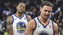 Andre Iguodala's hilarious reaction to Klay Thompson saying he'd have played on broken leg