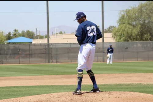 After 22 months on the shelf, pitching prospect Devin Williams is back in action