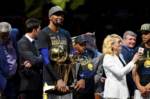 Kevin Durant talks titles and parties on Jimmy Kimmel Live