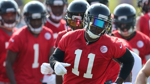 WATCH: Absent Julio Jones works out with Terrell Owens