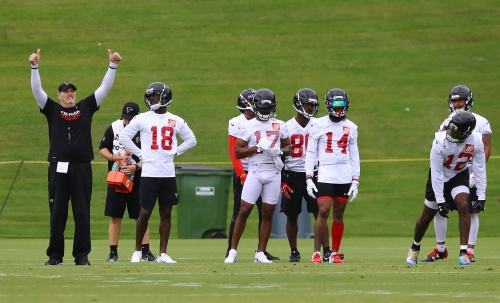 With Julio Jones out, Quinn worked with wide receivers at minicamp