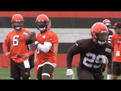Watch Tyrod Taylor and Baker Mayfield on the first day of Browns minicamp