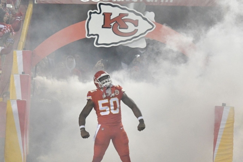 How often did the '17 Chiefs drop their OLBs in coverage?