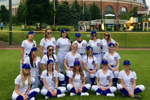 The Cubs' wives charity softball game was a huge success