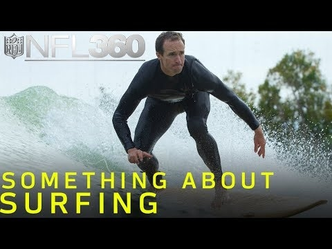 Watch: Drew Brees learns to surf with world champion Kelly Slater
