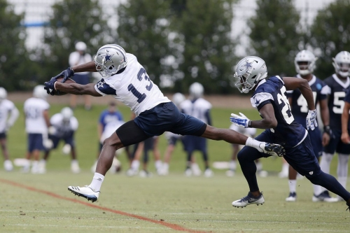 Cowboys rookie Michael Gallup had a star on his helmet, but there's an explanation why