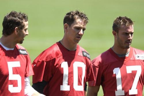 Mike Shula lauds Eli Manning's mind, Kyle Lauletta's calmness, Davis Webb's arm