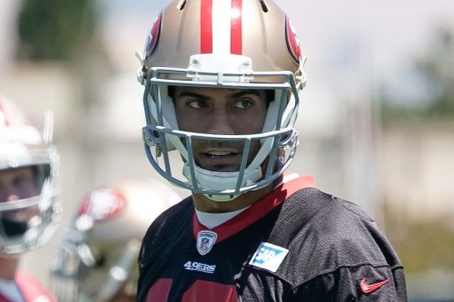 Jimmy G on cadence issues, learning 49ers offense, working with offensive line