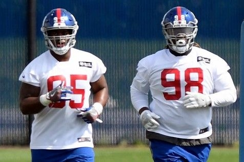 There are a (half) ton of expectations for the New York Giant's defensive line trio