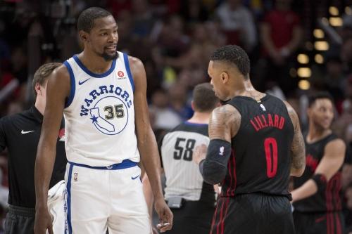 Lillard Congratulates Warriors on Winning NBA Finals