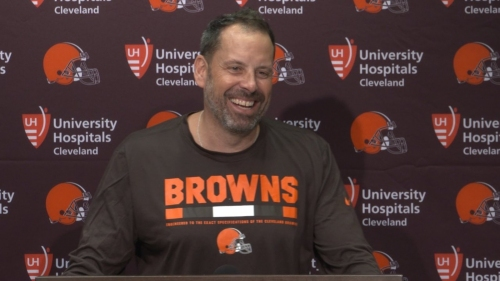 Browns OC Todd Haley says running back workload 'yet to be determined'