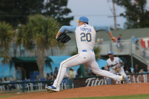 Minor League Wrap: 7 perfect innings from Thompson not enough for Pelicans.