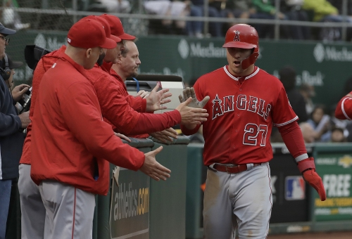 Mike Trout, Tyler Skaggs lead Angels to victory over A's