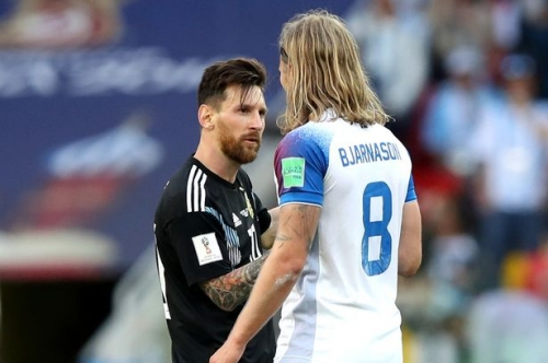 Aston Villa fans all say the same thing about Birkir Bjarnason and Lionel Messi after World Cup clash