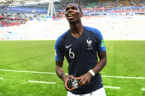 Manchester United midfielder Paul Pogba's classy tribute after France goal