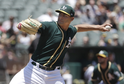 A's snap four-game losing streak with win over Angels