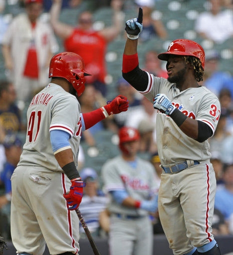 Box score: Phillies 10, Brewers 9