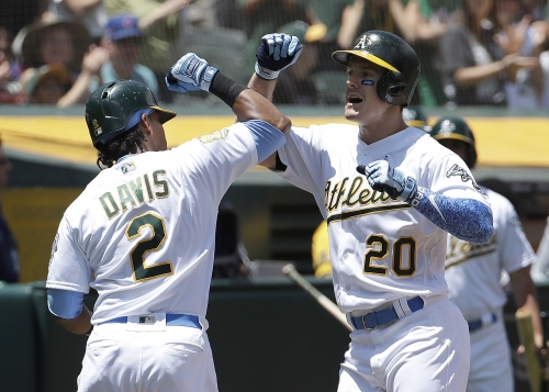 Lucroy caps off A's late comeback with walk-off vs Angels in extras