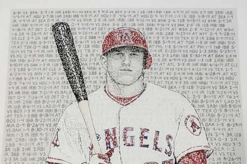 Dan Duffy does justice to a Mike Trout MVP word art print