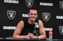 Watch: Derek Carr speaks to Raiders rookies 'Don't try and prove people wrong'