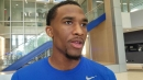 Jeremiah Martin discusses offseason workouts, his recovery from foot surgery