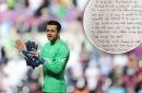 Lukasz Fabianski just posted the classiest handwritten letter to Swansea City fans