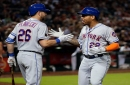 Dominic Smith enjoys first start in OF while also interacting with Rockies fans