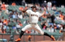 Giants use big sixth inning to take series from Marlins