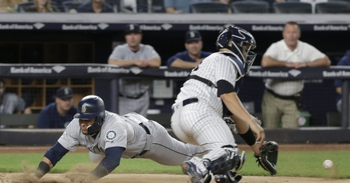 Mariners blow 5-0 lead against Yankees, lose third straight game