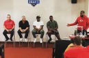 """Chiefs rookies hear from legends, get customized Royals jerseys during """"Rookie Transition Program"""""""