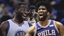 Draymond Green reacts to Joel Embiid's shot at Deandre Ayton