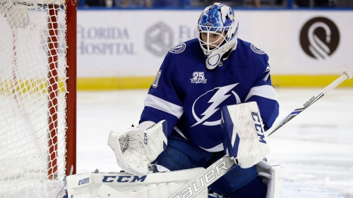 Lightning sign goaltender Louis Domingue to two-year contract