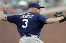 Richard sets down 18 of 21 in Padres' 6-2 win over Giants