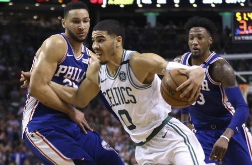 Philadelphia 76ers' Ben Simmons beats out Boston Celtics forward Jayson Tatum for Rookie of the Year