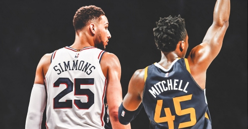 Sixers video: Ben Simmons and Donovan Mitchell hug it out at the NBA Awards Show