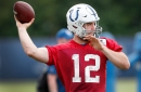 Andrew Luck is throwing. Oddsmakers and analysts aren't buying it.