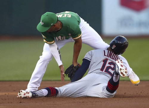 Cleveland Indians jarred early in 3-1 loss to Oakland Athletics