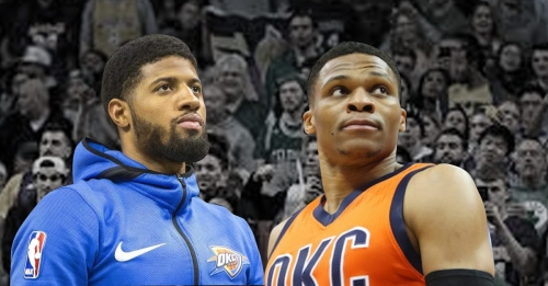 Russell Westbrook throwing a party with Paul George's arrival