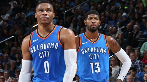 Video: Russell Westbrook shares clip celebrating Paul George's decision