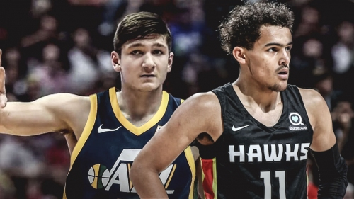 Video: Grayson Allen, Trae Young get entangled during Summer League game
