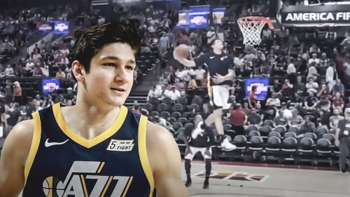 Video: Grayson Allen puts on a dunking clinic prior to Summer League game